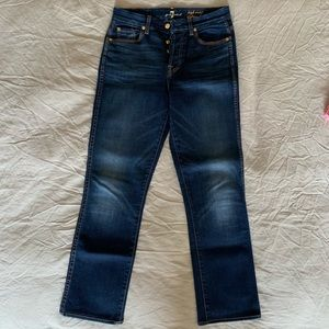 7 For All Mankind High Waist Vintage Straight 28